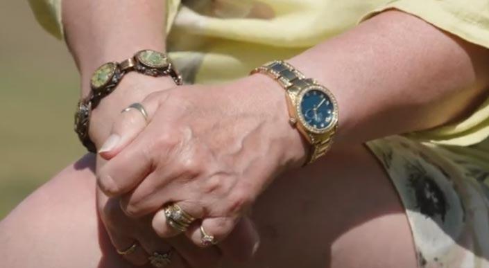 Joan's hands