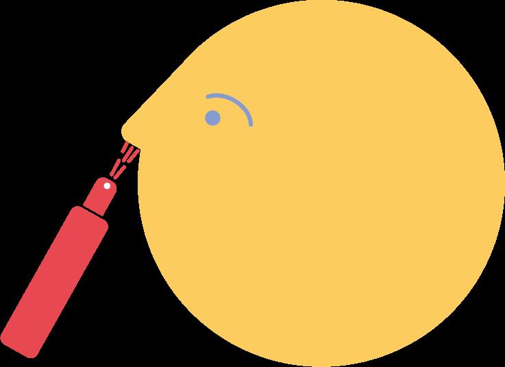 illustration of nasal spray