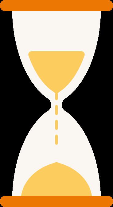 illustration of a sand-timer